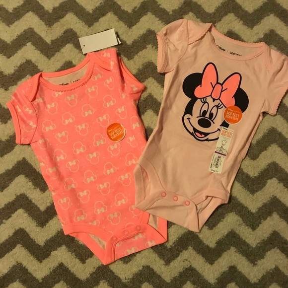 Disney Other - Two 6M Baby Onesies